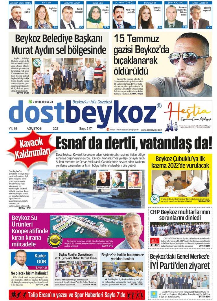 Dost Beykoz Gazetesi Ağustos 2021... 217. Sayı