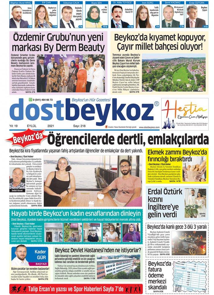 Dost Beykoz Gazetesi Eylül 2021... 218. Sayı
