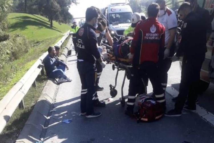 Beykoz Kavacık'ta motosiklet kazası 2 yaralı